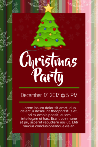 Simple Christmas Party Poster