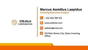 Simple colorful corporate business card desig Визитная карточка template