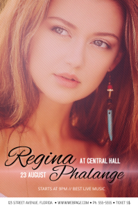 Simple Concert Singer Poster with portrait picture