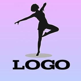 Simple dancer logo TJ Logotipo template