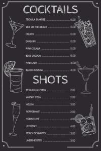 Simple Drinks Cocktail Menu Template