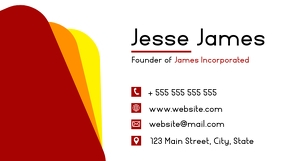 simple elegant modern minimal business card