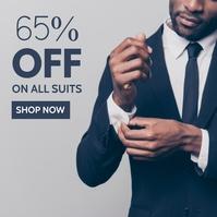 simple elegant suits sale advertisement Wpis na Instagrama template