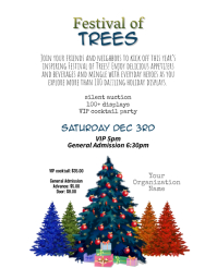 Simple Festival of Trees Flyer Template