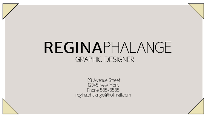 Simple Free Business Card Template