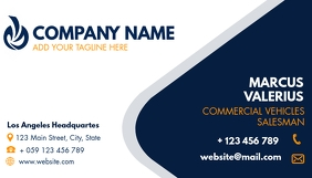simple generic business card for employees template
