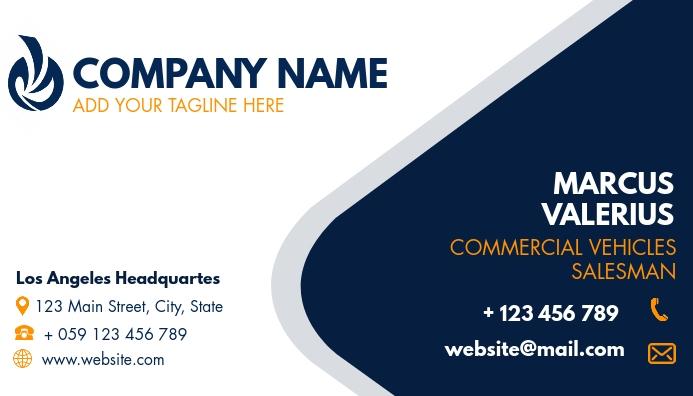simple generic business card for employees Tarjeta de Presentación template