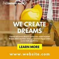 simple generic construction instagram post ad template