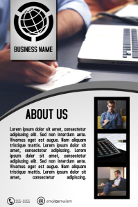 simple grey multipurpose business flyer newsletter template