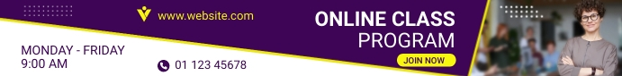 Simple horizontal web banner template for onl Papan Peringkat