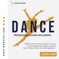 simple instagram post dance modern advertisin template