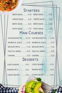 Simple Menu Template