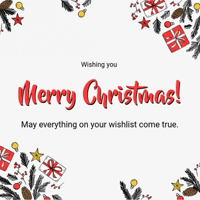 Simple Merry Christmas Greeting Card Template