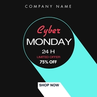 simple minimal cyber monday black friday inst Instagram Post template