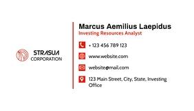 simple minimal spartan business card template นามบัตร