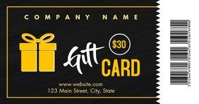 simple modern gift card voucher $30 Gambar Bersama Facebook template