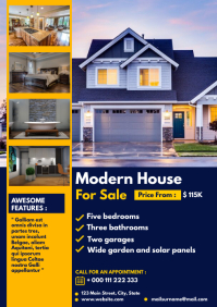 simple modern open house flyer modern house f A4 template