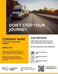 simple modern trucks and cars insurances serv Flyer (US Letter) template