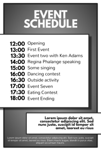 Simple Multipurpose Event Party Schedule Flyer Template