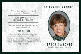 Simple Obituary Reception Invitation
