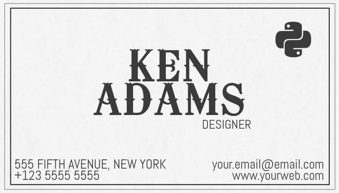 simple old vintage style business card template