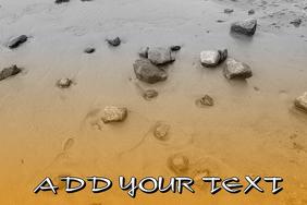 simple orange beach with stones