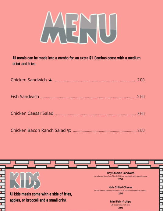 Wedding reception menu template kaitlyn blush pink 5x7 wedding.