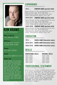 Simple Professional Resume/CV poster flyer template green