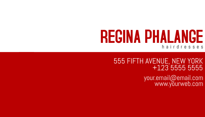 simple red and white business card template Kartu Bisnis