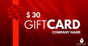 simple red gift card design template Gambar Bersama Facebook