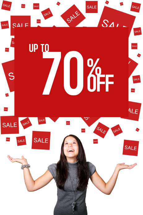 simple sale promotion flyer template postermywall