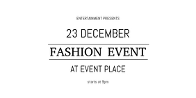 Simple Solid Fashion Event Twitter Post Template