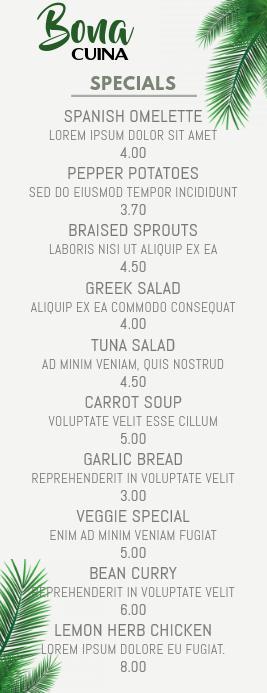 menu page deals