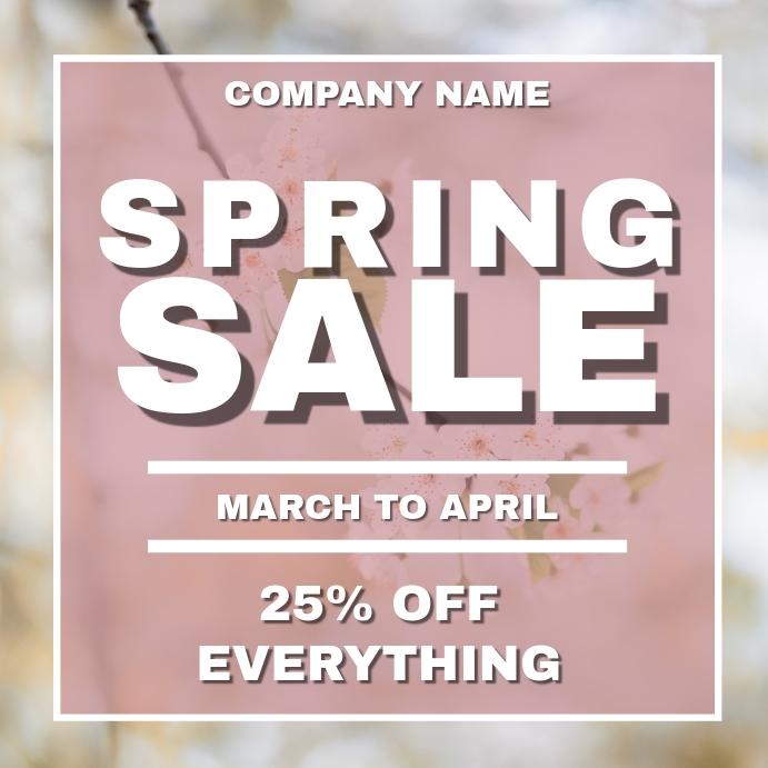 Simple spring sale instagram post advertiseme template
