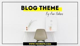 Simple Stylish Blog Header Design template