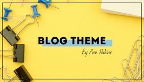 Simple Stylish Blog Header Yellow template