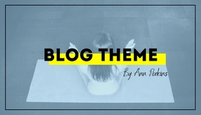 Simple Stylish Fitness Blog Header template