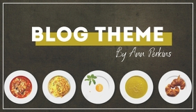 Simple Stylish Food Blog Header 博客标题 template