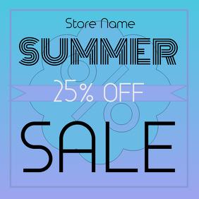 Simple summer sale post