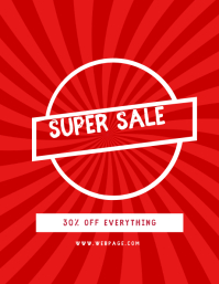 Simple super sale flyer template