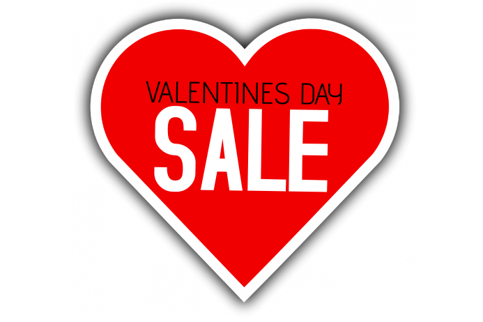 simple valentines day sale poster landscape