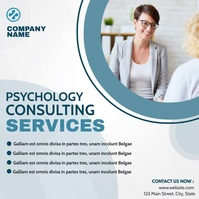 simple video psychology services mental healt Instagram Post template