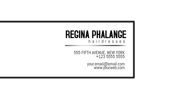 Simple white business card template Kartu Bisnis