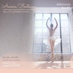 Simplistic Ballet Ad Video Template