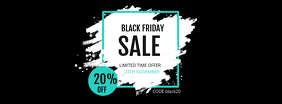 Simplistic Black Friday Sale Banner Retail Design Facebook-coverfoto template