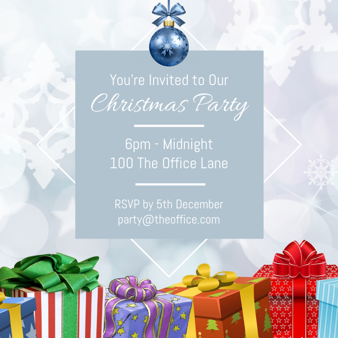 Simplistic Christmas Party Invitation Template