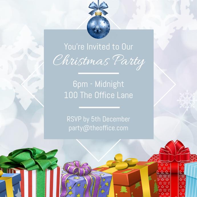 Simplistic Christmas Party Invitation Template