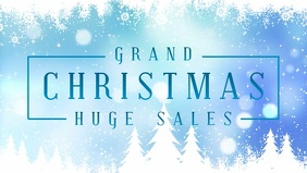 Simplistic Christmas Sale Facebook Animated Banner