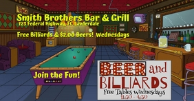 Simpsons Beer & Billiards Special Рекламное объявление Facebook template