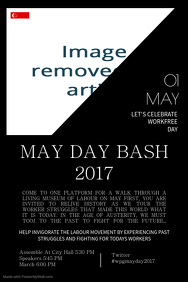 Singapore May Day Poster Template